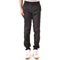 Clothing Men Chinos Paolo Pecora Men's Trousers In Black