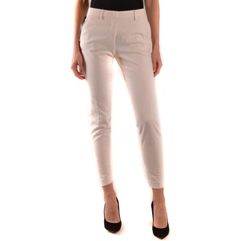Clothing Women Chinos Mason`s Women's Trousers In Wh 1