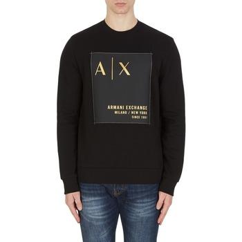 Clothing Men Sweaters EAX Sweatshirt col rond  6KZMDB-ZJ6PZ noir noir