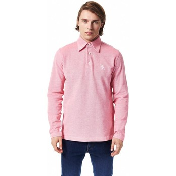 Clothing Men Long-sleeved polo shirts Billionaire Italian Couture Fu pink