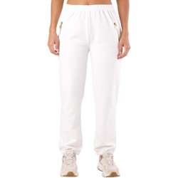Clothing Women Tracksuit bottoms Met Women's Trousers In White White