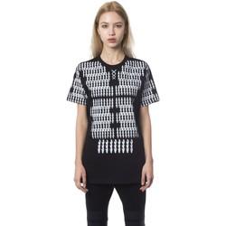 Clothing Women Short-sleeved t-shirts Nicolo Tonetto Nero Black T-sh Black/White