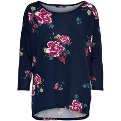 Clothing Women Long sleeved tee-shirts Only Women's T-Shirt In Blue Blue