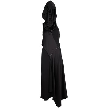 Clothing Women Long Dresses Dkny Black Cut-Out Dress With Black