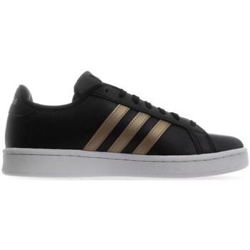 Shoes Women Low top trainers adidas Originals Grand Court White, Black, Golden