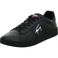 Shoes Men Low top trainers Tommy Hilfiger Cupsole Tjm Leather Black