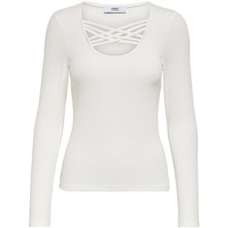 Clothing Women Long sleeved tee-shirts Only Women's T-Shirt In White 1