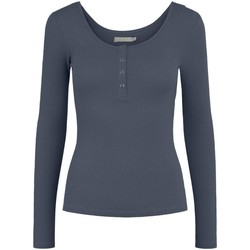 Clothing Women Jumpers Pieces Women's T-Shirt In Blue 19