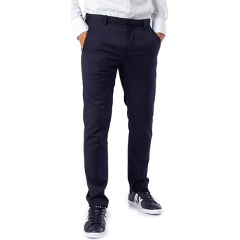 Clothing Men Chinos Selected Men's Trousers In Blu 19