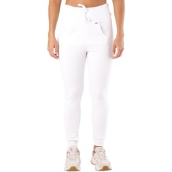 Clothing Women Tracksuit bottoms Met Women's Trousers In White 1