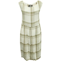 Clothing Women Short Dresses Reformation Beige Checked Loos nude