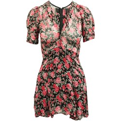 Clothing Women Short Dresses Reformation Red And Pink Flora Multicolor