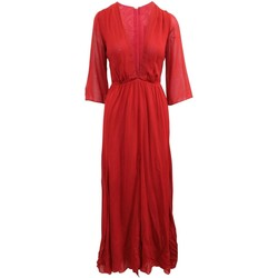 Clothing Women Long Dresses Reformation Elegant Red Maxi D red