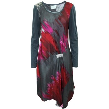 Clothing Women Long Dresses Pure Dkny Abstract Print Dress Multicolor