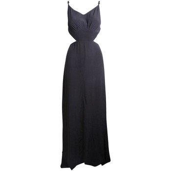 Clothing Women Long Dresses Reformation Waisted Cut Out Ma Black