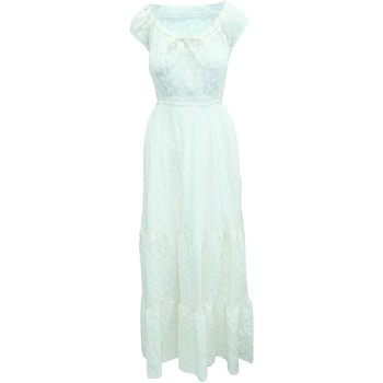 Clothing Women Long Dresses Reformation Cream Embroidered white | ivory