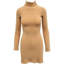 Clothing Women Short Dresses Reformation Nude Slim-Fit Long nude