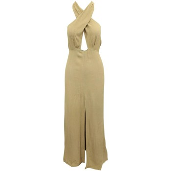 Clothing Women Long Dresses Reformation Light Brown Maxi D Brown