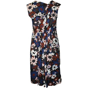 Clothing Women Short Dresses Marni Pleated Floral Cotton Dr 594