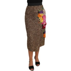 Clothing Women Skirts D&G Gold Floral Si gold