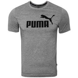 Clothing Men Short-sleeved t-shirts Puma Ess Logo Tee Grey