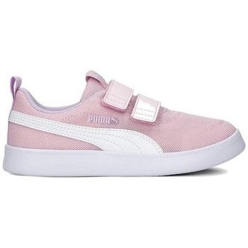 Shoes Children Derby Shoes & Brogues Puma Courtflex V2 Mesh V PS Pink