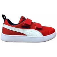 Shoes Children Low top trainers Puma Courtflex V2 Mesh V PS Red