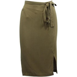 Clothing Women Skirts Reformation Brown Wrap Skirt - 28