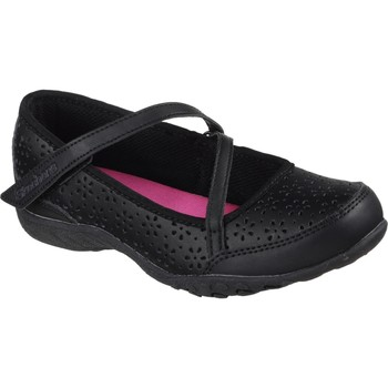 Shoes Girl Derby Shoes & Brogues Skechers 82277LBBK27 Breathe-Easy Playground Poppies Black