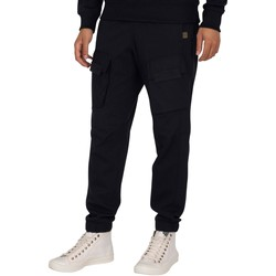 Clothing Men Tracksuit bottoms G-Star Raw Mixed Woven Cargo Joggers blue