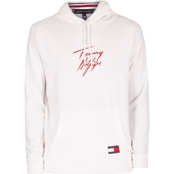 Clothing Men Sweaters Tommy Hilfiger Lounge Pullover Hoodie white