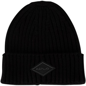 Clothes accessories Men Hats / Beanies / Bobble hats Replay Logo Beanie black