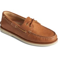 Shoes Men Boat shoes Sperry Top-Sider STS23219-110 Gold A/O 2-Eye Boat Shoe Tan