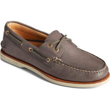 Shoes Men Boat shoes Sperry Top-Sider STS23217-080 Gold A/O 2-Eye Boat Shoe Charcoal
