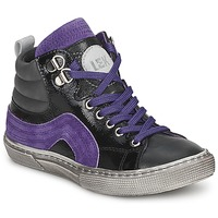 Shoes Boy Hi top trainers Little Mary OPTIMAL VARNISH / Black and Purple
