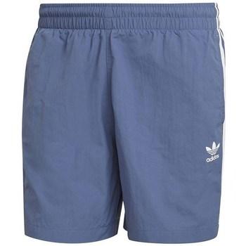 Clothing Men Shorts / Bermudas adidas Originals 3STRIPE Swims Blue