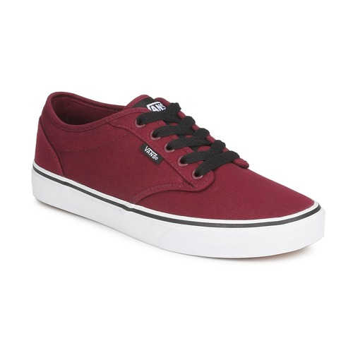 Shoes Men Low top trainers Vans ATWOOD Bordeaux / White