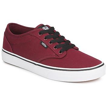 Shoes Men Low top trainers Vans ATWOOD Bordeaux / White