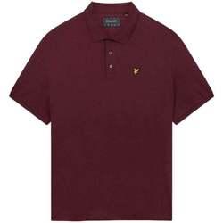 Clothing Men Short-sleeved polo shirts Lyle & Scott Plain Polo Shirt purple