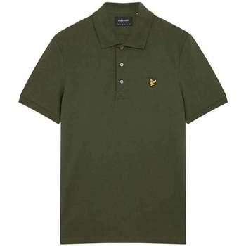 Clothing Men Short-sleeved polo shirts Lyle & Scott Plain Polo Shirt green