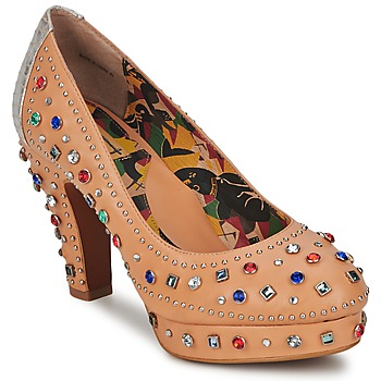 Shoes Women Heels Miss L'Fire SHOWGIRL BEIGE