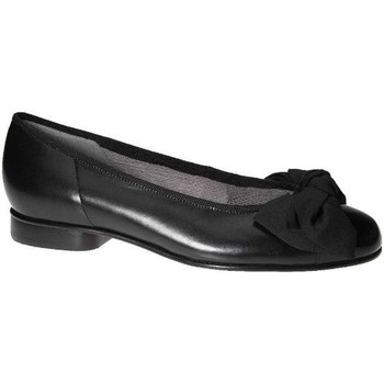 Shoes Women Flat shoes Gabor Amy Bow Trim Womens Ballerina Pumps black