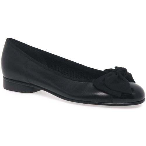 Shoes Women Flat shoes Gabor Amy Bow Trim Womens Ballerina Pumps black