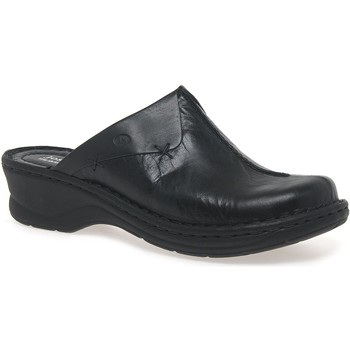 Shoes Women Clogs Josef Seibel Catalonia Cerys Womens Leather Clogs black