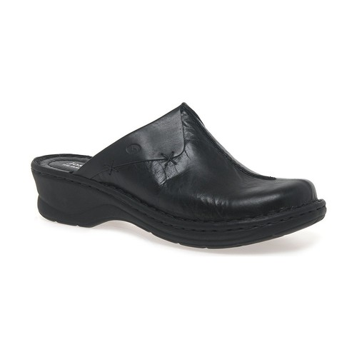 Shoes Women Clogs Josef Seibel Cerys Womens Leather Clogs black