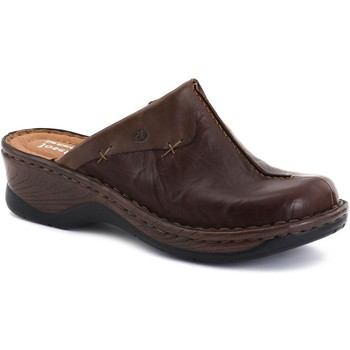 Shoes Women Clogs Josef Seibel Catalonia Cerys Womens Leather Clogs brown