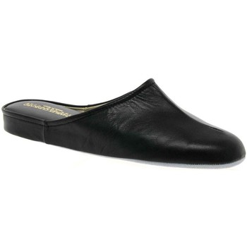 Shoes Boy Slippers Relax Slippers Gavin Mens Leather Slippers black