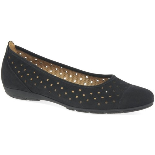 Shoes Women Flat shoes Gabor Ruffle Womens Punched Detail Casual Shoes black