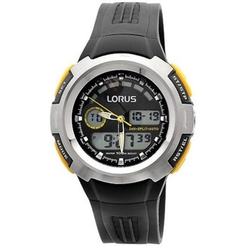 Watches & Jewellery  Men Mixed analogue-digital watches Lorus R2323DX9 Black Silicone Strap Men's Watch parent