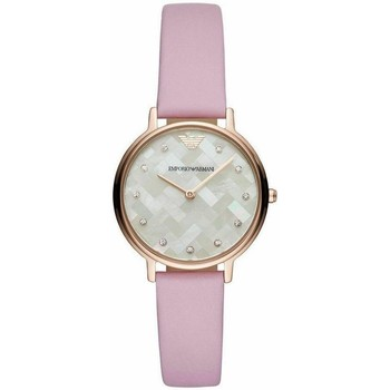 Watches & Jewellery  Women Analogue watches Armani AR11130 Rose Gold Leather Ladies Watch parent